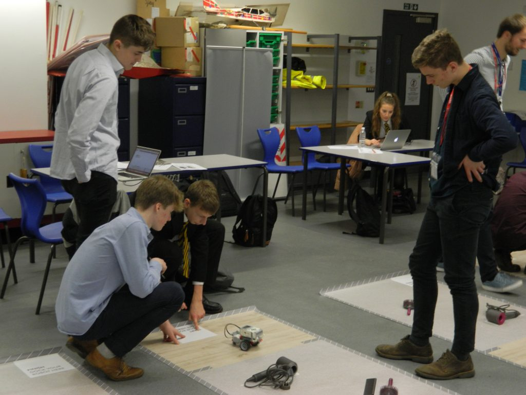 Students working on an engineering project at the Dyson Institute